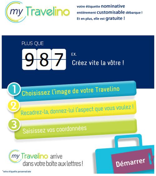 carte a bagage personnalisée